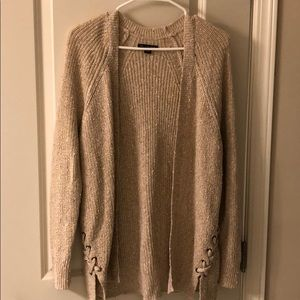 Tan American eagle cardigan